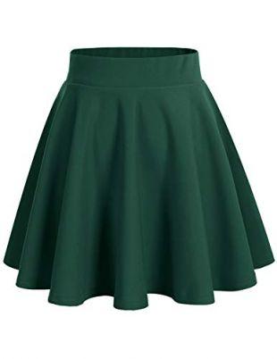 Green Pleat SKirt