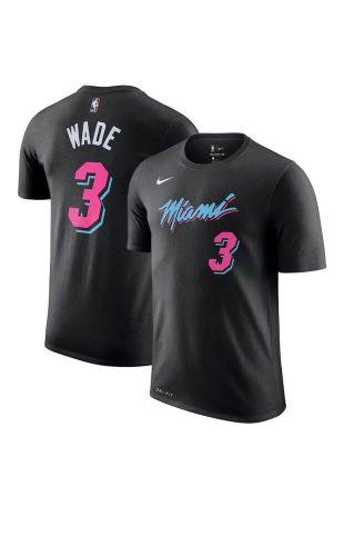 Le maillot Nike NBA Miami Heat Dwayne Wade #3 porté par