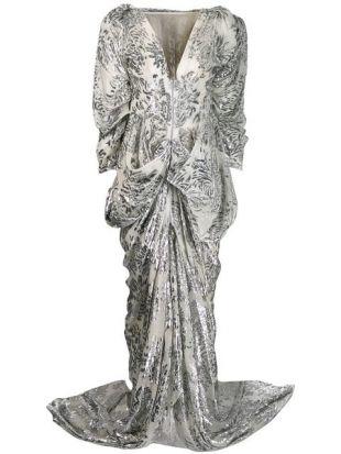 Maticevski Robe Longue à Motif De Fleurs