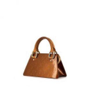 Louis Vuitton Sac à main Forsyth petit modèle en cuir verni monogram mordoré et cuir naturel