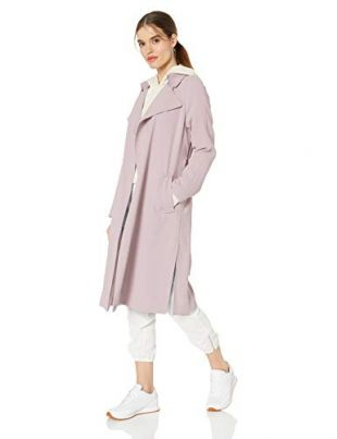 Kendall + Kylie Women's Long Trench Coat, Lilac, XS
