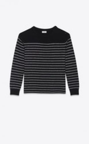 Saint Laurent Sailor Knit Sweater with Lurex Stripes
