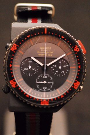 SEIKO 7A28-6000 QUARTZ CHRONOGRAPH SPORTS 100 ALIENS BISHOP BY GIORGIO GIUGIARO