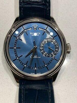 Rolex Cellini Date 39mm 50519 Watch Blue