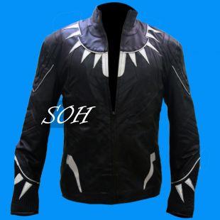 Captain America guerre civile panthère noire veste en cuir: toutes tailles