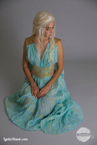 Daenerys Targaryen Costume Qarth Belt & Shoulder Pieces ONLY / Khaleesi Dress Gold Accessories for Halloween Game of Thrones Cosplay