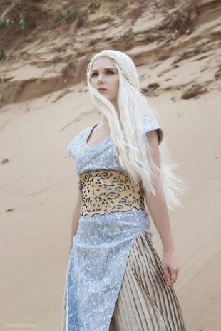 Daenerys Targaryen Game of Thrones cosplay costume dress