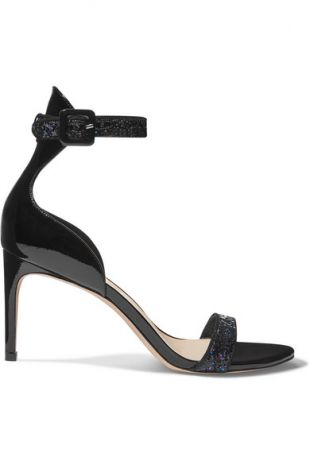 Sophia Webster Nicole glittered patent leather sandals