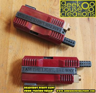 Deadshot's wrist guns from Suicide Squad movie for Deadshot Cosplay