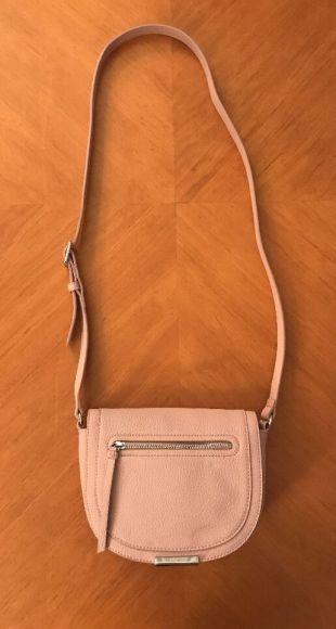 Nine West DIMA Pink Small Crossbody Bag Handbag Purse Mauve Fx Leather Messenger