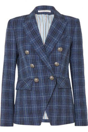 Veronica Beard Miller Dickey checked wool-blend blazer