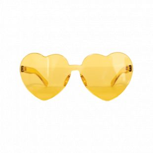 Taylor Swift Merchandise Yellow Heart-Shaped Sunglasses