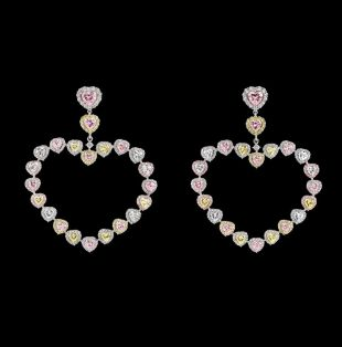 Anabela Chan Love Heart Hoop Earrings