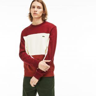Lacoste Sweatshirt col rond en molleton piqué color-block