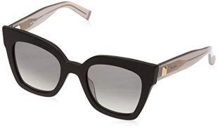 Max Mara Women's Mm Prism Iv Square Sunglasses, BLACK DARK GREY, 50 mm