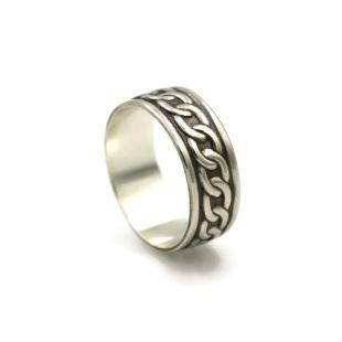 Bague celtique en argent, bague de pouce, bagues en argent pour homme, recyclé bague en argent, mâle, bague Cool, anneaux de mariage abordable, bande de mariage pour homme
