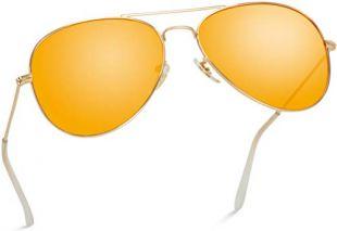 Filles Jaune petites lunettes de soleil pilote Garçon Enfants Childs Childrens Shades KA007