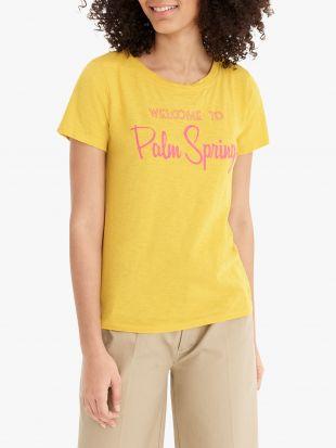 J.Crew Palm Springs Cotton T Shirt, Rich Gold