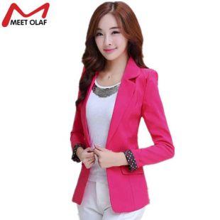 2019 Blazer Women 2017 Candy Color Office Ladies OL Suit Coat Slim Casual Suit Womens Blazers Female Blazers Work Wear Jacket YL304  From Buttonhole, $25.26 | DHgate.Com