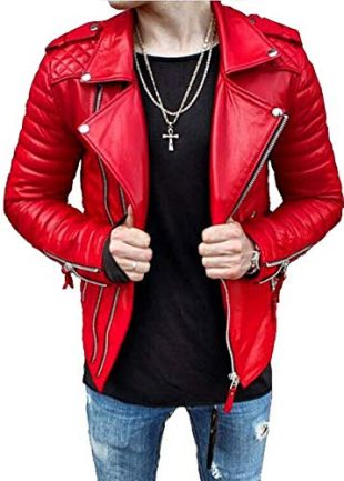 Red leather jacket worn by YNW Melly in his Freddy Krueger