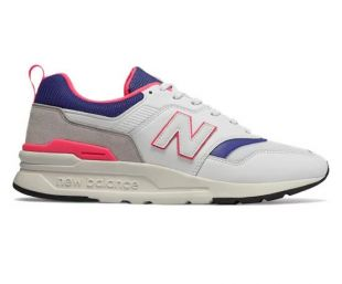 997H Sneakers in White Lazer Blue & Pink