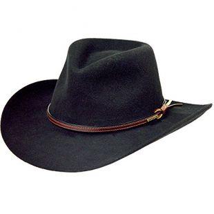 Stetson Men's Bozeman Wool Felt Crushable Cowboy Hat Black Large