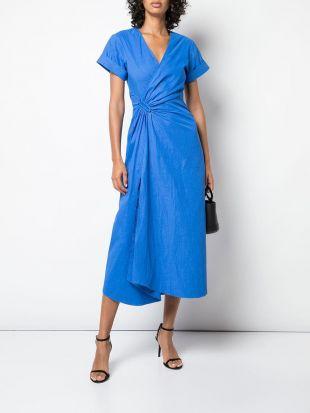 short sleeve Flared Midi Dress
