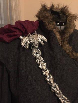 Cosplay Accessory - Daenerys Dragon Chain and Detachable Brooch