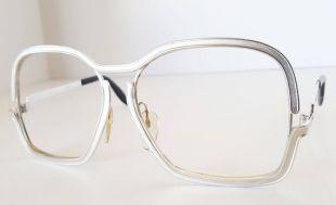 Vintage SILHOUETTE énorme unisexe des années 70 oversize chrome Lunettes cadres émail métal accents Elton John style!