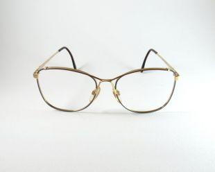Cadres de lunettes en métal, Lozza Mod:Tiffany 70s, Lunettes Vintage Authentic, Brown/Blue Oversized Vintage Lozza Metal Frame, Christmas Gift