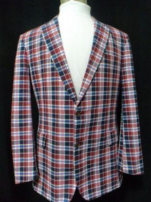Veste à carreaux vintage, manteau de sport Brooks Brothers, (Taille: Hommes 44 Long), Manteau sport d'été, Nautical, Like New Condition