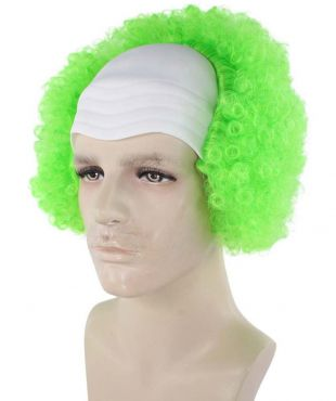 Scary Green Clown Bald Wig  HM 680