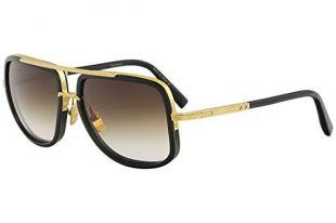 Sunglasses Dita MACH ONE DRX 2030 B Shiny 18K Gold-Black w/D.Brown to ClearAR