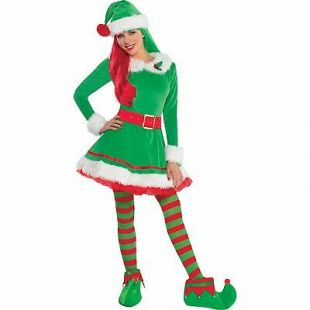 Green Elf Costume for Women, Christmas Costume, Large, with Accessories 809801740937 | eBay
