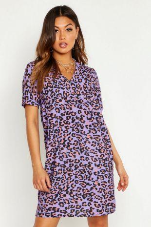Leopard Print Smock Dress | Boohoo