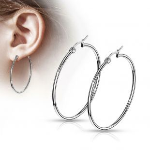 Paire de Inox 316l Acier Chirurgical Rond Earrings