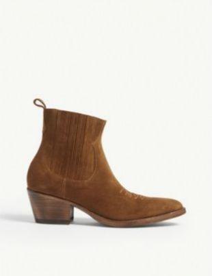 Farwest Suede Cowboy Boots