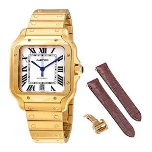 Cartier Santos de Cartier 18kt Yellow Gold Men's Large Watch WGSA0009