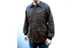 Manteau vintage des années 1980 la protection civile danoise travail veste manteau militaire gris bleu armée