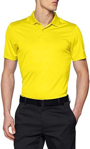 Nike Golf Victory Solid Polo (Yellow Strike/White) (X-Large)