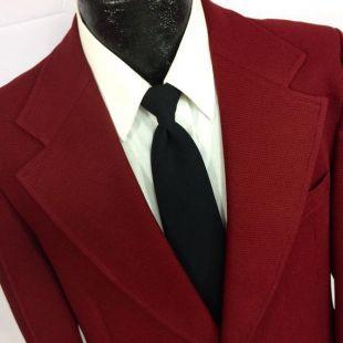 Vintage 70 ' s East Hampton hommes TEXTURÉ marron rouge MoD Sport Coat veste or MoD bouton Blazer rétro 40 R