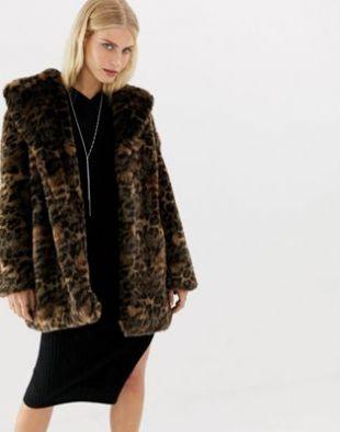 AllSaints - Amice - Manteau fausse fourrure à motif léopard   ASOS
