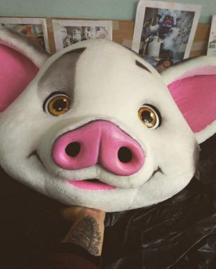 Cosplay Killing Eve Season 2 Villanel le Pink Pig Mask Full Head Masquerade Mask