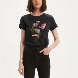 T-shirt manches courtes motif fleurs