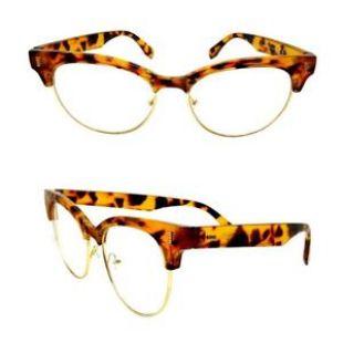 Lunettes de vue marron oeil de chat écaille