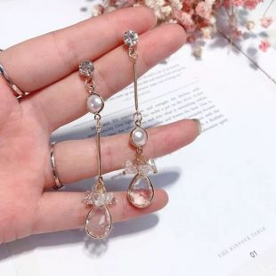 Boucles d'oreilles Mix and Match Pearl Water Drop, Boucles d'oreilles Pearl Drop, Boucles d'oreilles en cristal, Boucles d'oreilles Clear Water Drop