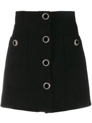 Alessandra Rich Decorative Button Skirt - Farfetch
