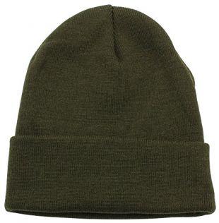 Top Level Unisex Cuffed Plain Skull Beanie Toboggan Knit Hat/Cap, Olive