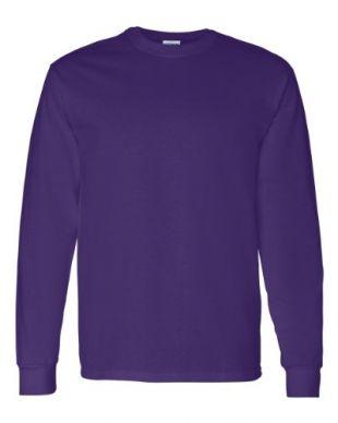 Gildan Adult Heavy Cotton Long-Sleeve T-Shirt - Purple - XL