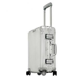"Rimowa Topas IATA Carry on Luggage 21"" Inch Multiwheel 32L TSA Lock Spinner Suitcase Silver"